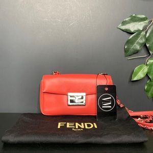 FENDI • NAPPA LEATHER MINI BE BAGUETTE BAG